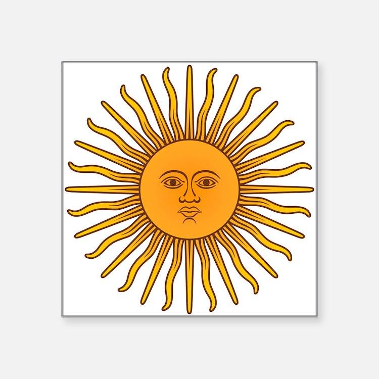 """Sol de Mayo Square Sticker 3"""" x 3"""""""