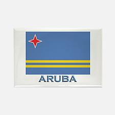 Aruba Flag Gear Rectangle Magnet