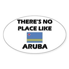 There Is No Place Like Aruba Oval Decal