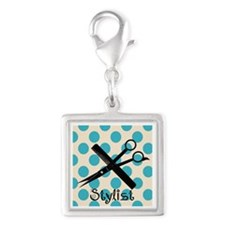 Stylist Square BLUE PENDANT.PNG Silver Square Char
