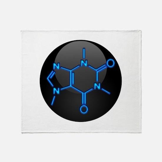 Caffeine Molecule Button Throw Blanket