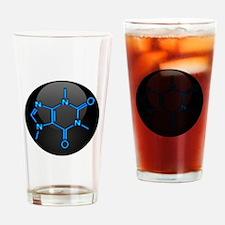 Caffeine Molecule Button Drinking Glass