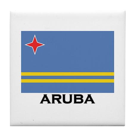 Aruba Flag Merchandise Tile Coaster