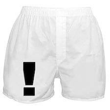 Exclamation Mark Boxer Shorts