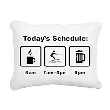 Wakeboarding Rectangular Canvas Pillow