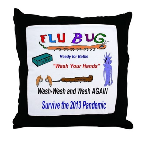 Wash Or Throw Away Pillows : Flu 2013 Wash Throw Pillow by listing-store-2783167