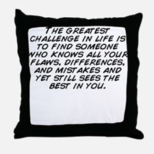 And see someone Throw Pillow