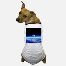Moon rising over Earth's horizon - Dog T-Shirt