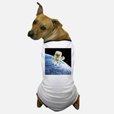 Composite image of a spacewalk over Earth - Dog T-
