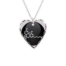 THC molecule button Necklace