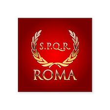 """Roman Square Sticker 3"""" x 3"""""""