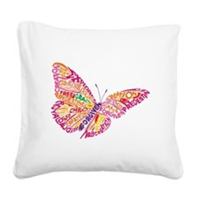 Flying by Grace Square Canvas Pillow