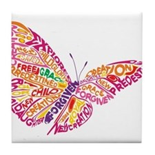 Flying by Grace Tile Coaster