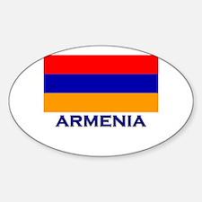 Armenia Flag Gear Oval Decal
