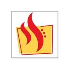 "Fire Square Sticker 3"" x 3"""