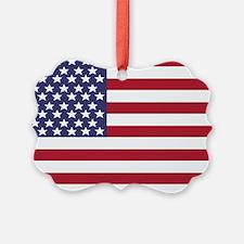 USA Flag (long) Ornament