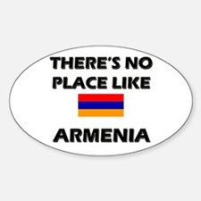 There Is No Place Like Armenia Oval Decal