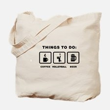 Sitting Volleyball Tote Bag