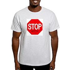 Stop Aditya Ash Grey T-Shirt