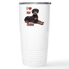 I heart my Doberman Travel Mug