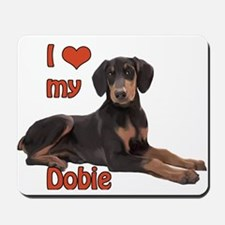 I heart my Doberman Mousepad