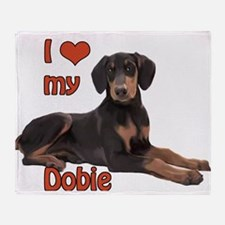 I heart my Doberman Throw Blanket