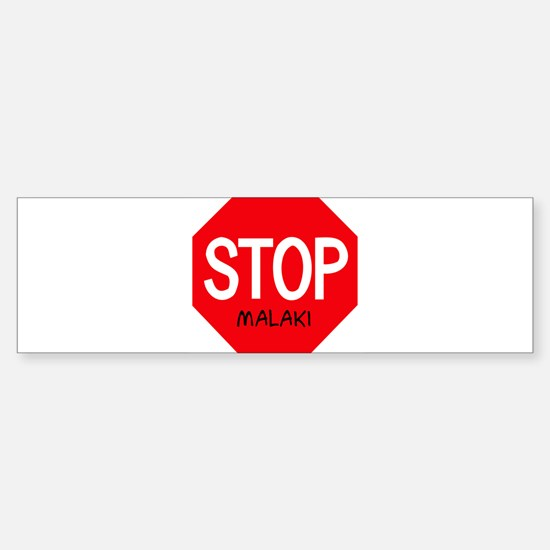 Stop Malaki Bumper Car Car Sticker