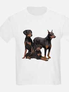 three dobermen T-Shirt
