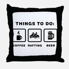 Rafting Throw Pillow