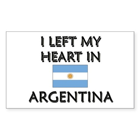 I Left My Heart In Argentina Rectangle Sticker