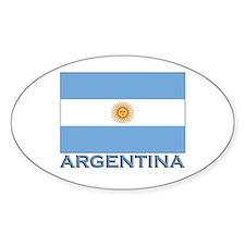 Argentina Flag Gear Oval Decal