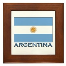 Argentina Flag Gear Framed Tile