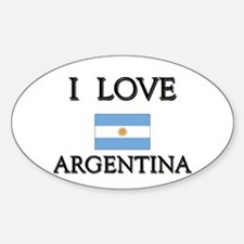 I Love Argentina Oval Decal