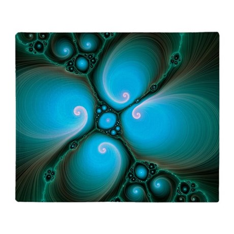 Computer-generated Julia fractal - Throw Blanket