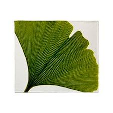 Leaf of Ginkgo biloba - Throw Blanket