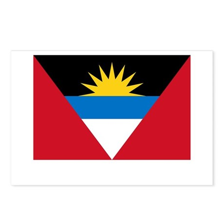 Antigua & Barbuda Flag Picture Postcards (Package