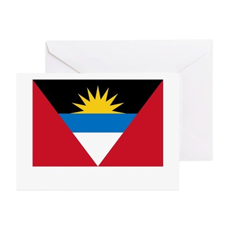 Antigua & Barbuda Flag Picture Greeting Cards (Pac