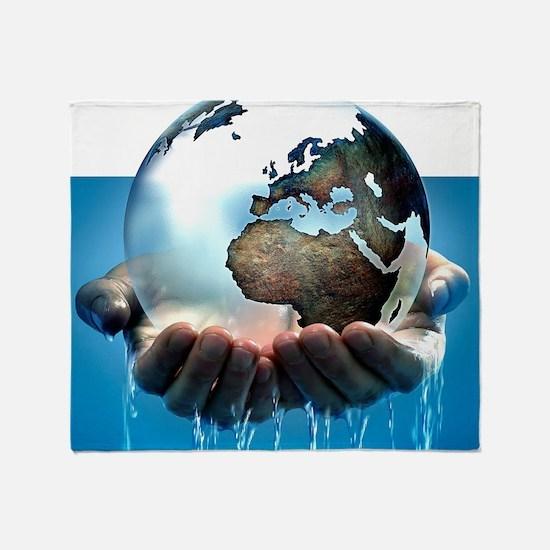 Polar ice caps melting, conceptual image - Stadiu
