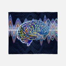 Artificial intelligence, artwork - Throw Blanket