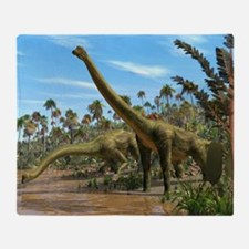 Brachiosaurus dinosaurs - Throw Blanket