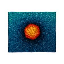 Adenovirus particle, TEM - Throw Blanket