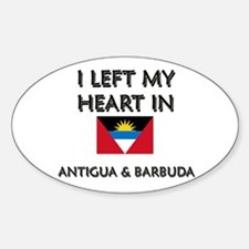I Left My Heart In Antigua & Barbuda Decal