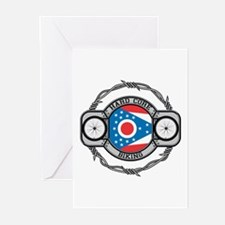 Ohio Biking Greeting Cards (Pk of 10)