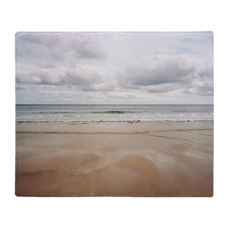 Sandy beach - Throw Blanket