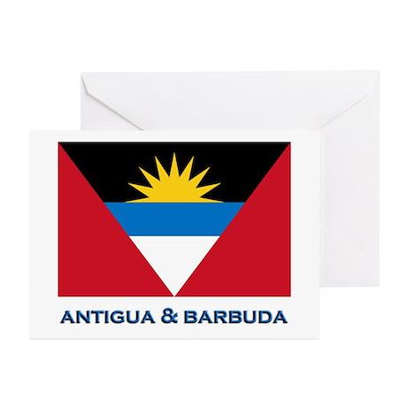 Antigua & Barbuda Flag Gear Greeting Cards (Packag