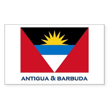 Antigua & Barbuda Flag Gear Rectangle Sticker