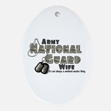 National Guard Wife - Digital Oval Ornament