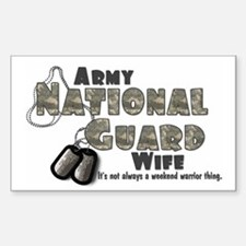 National Guard Wife - Digital Sticker (Rectangular
