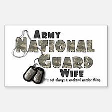 National Guard Wife - Digital Sticker (Rectangular