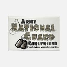 National Guard Girlfriend - Rectangle Magnet